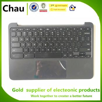 New For HP Chromebook 11 G5 EE Upper Case Palmrest Cover Top Cover With Keyboard Touchpad P/N 917442-001