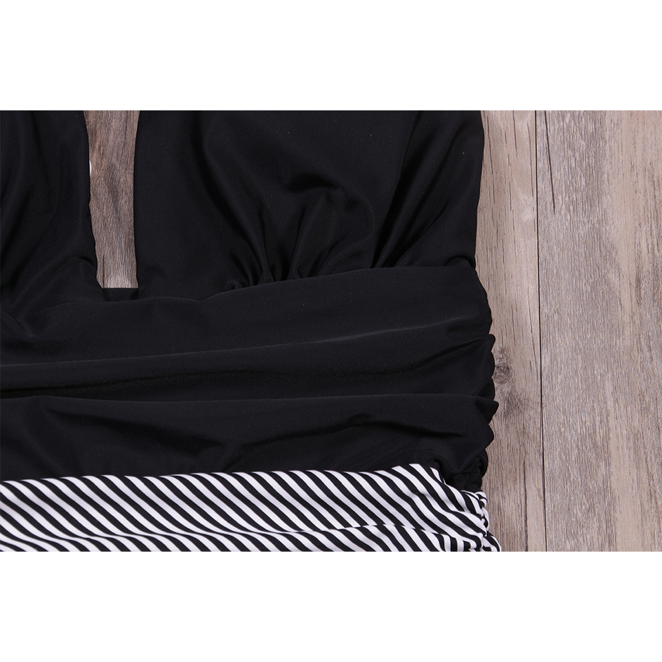 Foto of the part new one piece swimsuit for beach. Swimming backless v-neck for women