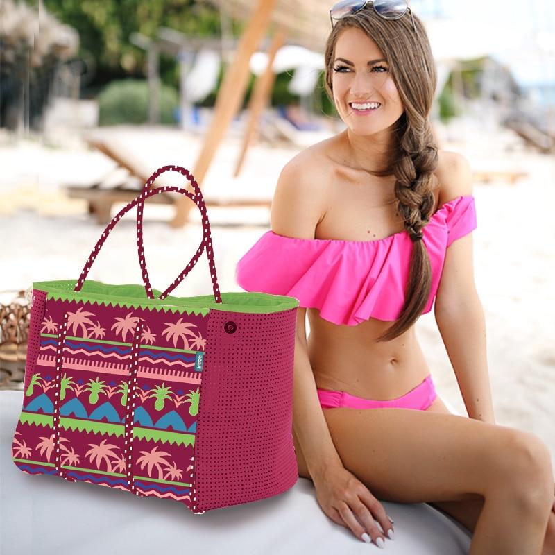 2019 femmes sac de plage sac à main en néoprène mode trapèze fourre-tout Messenger sacs femmes sac à bandoulière designer sac de yoga - 4