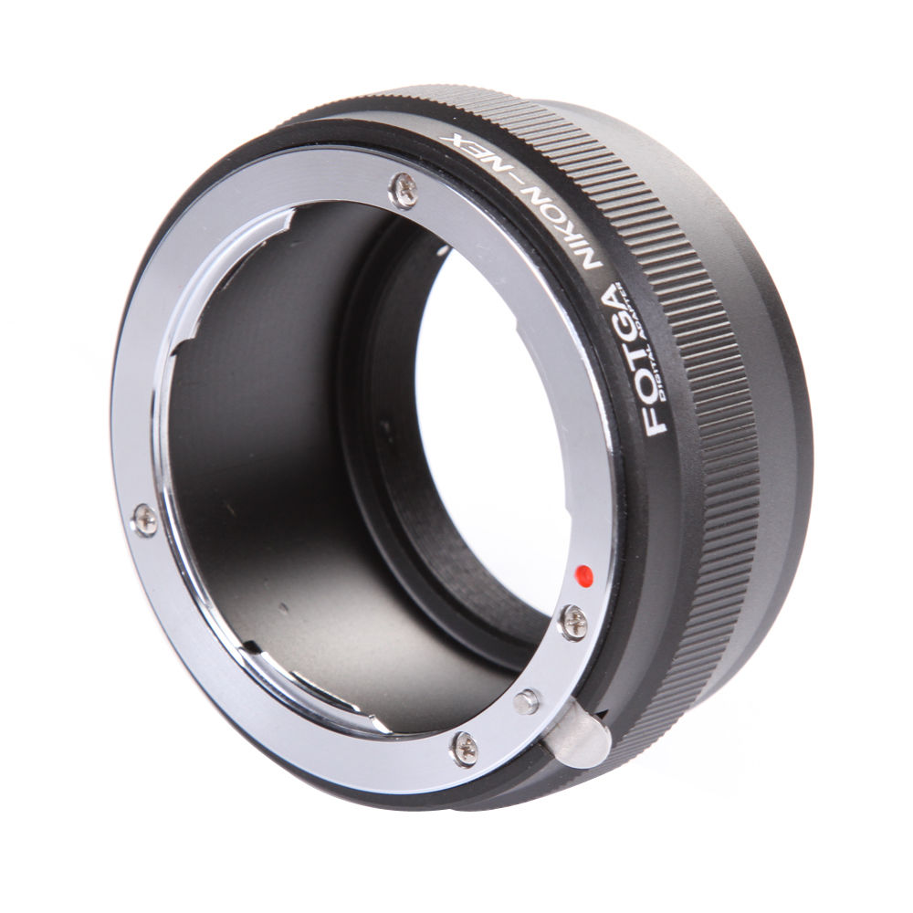 Fotga Digital Lens Adapter Ring for Nikon Lens to NEX E Mount Adapter NEX-7 NEX-5 NEX-3 NEX-VG10
