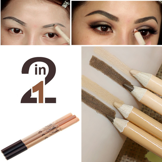 M.N Hot Sale 2 in 1 Menow Brand Make Up Pencil Color Corrector Double-ended Waterproof Concealer Eyebrow Pencil Cheap Makeup ...
