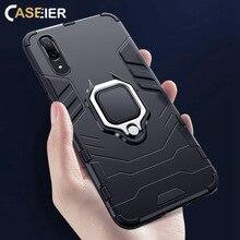 CASEIER Shockproof Stand Holder Phone Case For Huawei P Smart 2019 P20 Lite Pro Finger Ring Mate 20 30