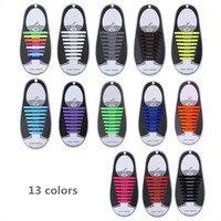 16 pcs/lot lacets en Silicone lacets élastiques lacets spéciaux sans cravate lacet pour hommes femmes laçage caoutchouc Zapatillas 13 couleurs