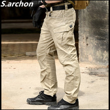 S.archon SWAT Combat Military Tactical Pants Men Large Multi Pocket Army Cargo Pants Casual Cotton Security Bodyguard Trouser