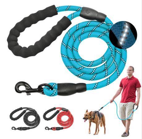 Reflective Large Dog Leash Nylon Rope Pet Running Tracking Leashes Long Lead Dog Mountain Climbing Rope For Medium Large Big Dog