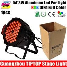 Tiptop TP-P71B полноцветный 54 x 3 Вт алюминия из светодиодов Par света RGB 3IN1 смешение цветов бесшумный вентилятор охлаждения алюминиевый кронштейн противоударный чехол
