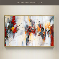 New Style Oil Painting On Canvas For Room Decor Modern Big Size Handmade Abstract Picture Hand