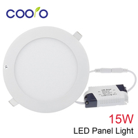Ac100-265v 15 w led panel licht open gat diameter 175mm led plafondlamp ronde led down light, free verzending