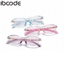 Iboode TR90 силиконовая квадратная рамка для детских очков, мягкие гибкие детские очки, носовые упоры, очки, простые зеркальные очки