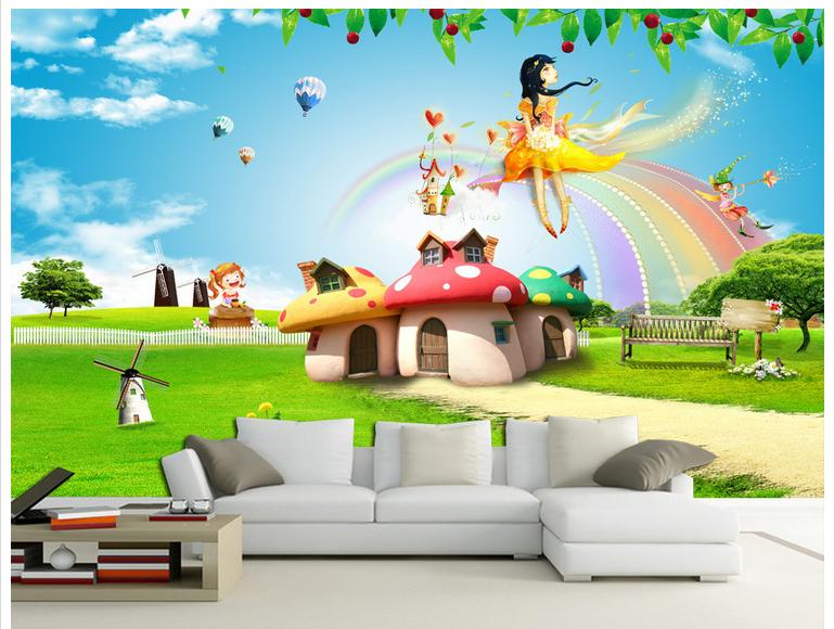 Buy 3d photo wallpaper custom 3d wall for Fairy tale wall mural