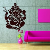 2017 Hot Sale Europe Destroy God Ganasha Indian Lord For Buddha Vinyl Wall Stickers Decals Many Styles Dinning Room Decor