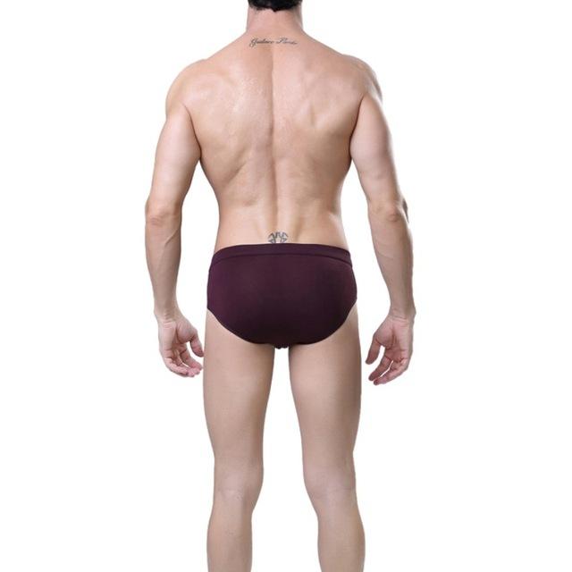 Men Underwear Comfy Bamboo Fiber Solid Elastic Sexy Briefs Mens Underwears ropa interior calzoncillos hombre slip calzoncillos