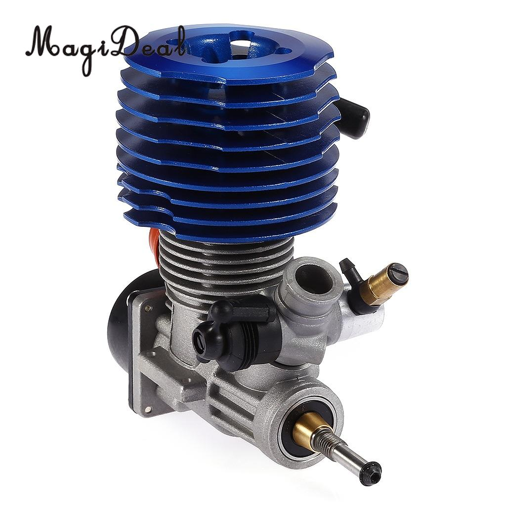 MagiDeal RC 28 4.57cc Pull Starter Engine for 1:8 1:10 1:12 HSP HPI Traxxas RC Car Buggy Truck Boat Remote Control Parts engine blue for hsp 02060 rc 1 10 1 8 on road car buggy truck original part
