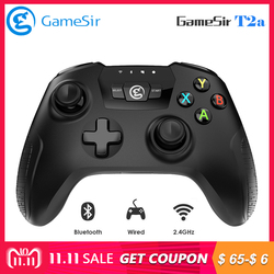 Original GameSir T2a Wireless Gamepad Bluetooth USB Wired Game Controller Support 3.5~6-inch Phone for Android Phone/ PC/TV Box