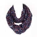2016 Sweet Infinity scarvess Fashion Fresh style Small Flowers Print Woman Warm Tube scarves muffler