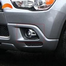 Для Mitsubishi ASX 2010 2011 2012 ABS хром передняя Foglight лампы фар век Обложка планки Авто Запчасти давлением аксессуары