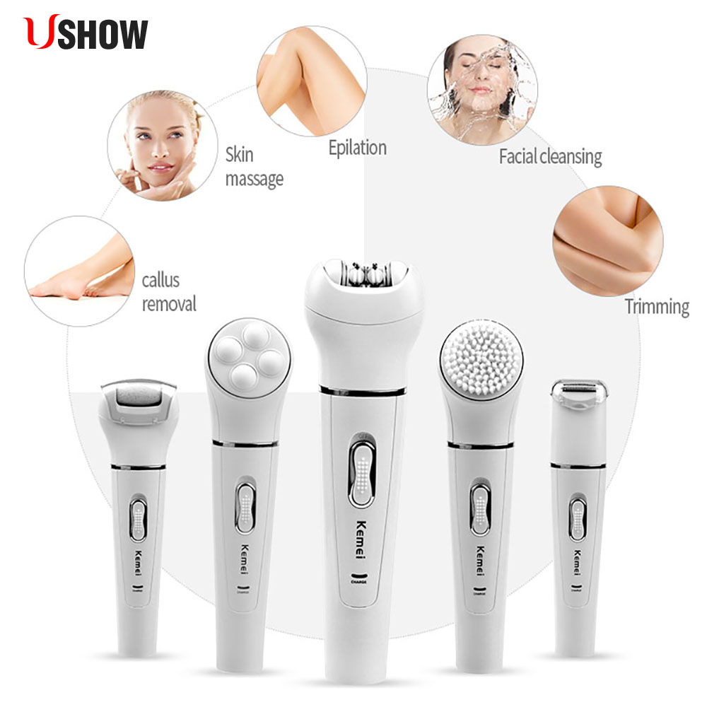 Multifunction Waterproof Lady Shaver Women Female Epilator Rechargeable Electric Shaver Razor Bikini Trimmer Body Hair Removal цены