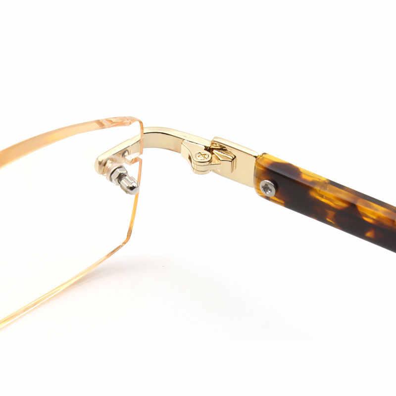 Yüksek kaliteli kesme presbiyopi lensler kare okuma gözlüğü moda presbiyopik gözlük hipermetrop erkekler