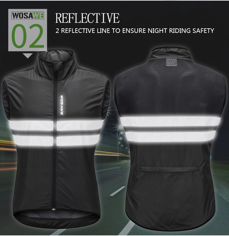 Cycling Back To Search Resultssports & Entertainment Wosawe Mtb Road Bike Reflective Jacket Light Weight Wateproof Cycling Jacket Windbreaker Jacket Safety Vest Bicycle Clothing
