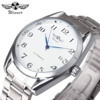 Top Brand Luxury Classic Men S Auto Mechanical Wrist Watches Stainless Steel Band Calendar Watches Arabic