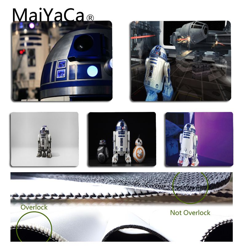 MaiYaCa New Printed StarWars R2D2 Mouse Pad For Laptop Unique Desktop Pad Game Mousepad