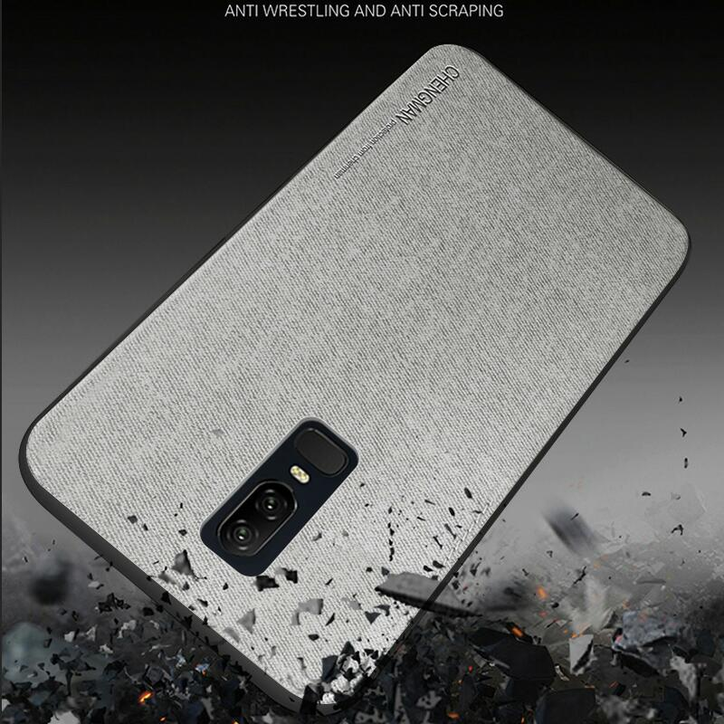 1 Pcs Anti knock Soft TPU Matte Silicon Cloth Mobile Business Phone Cases For Oneplu 6 Oneplus 5 Case For OnePlus 6 5 5T Cover in Fitted Cases from Cellphones Telecommunications