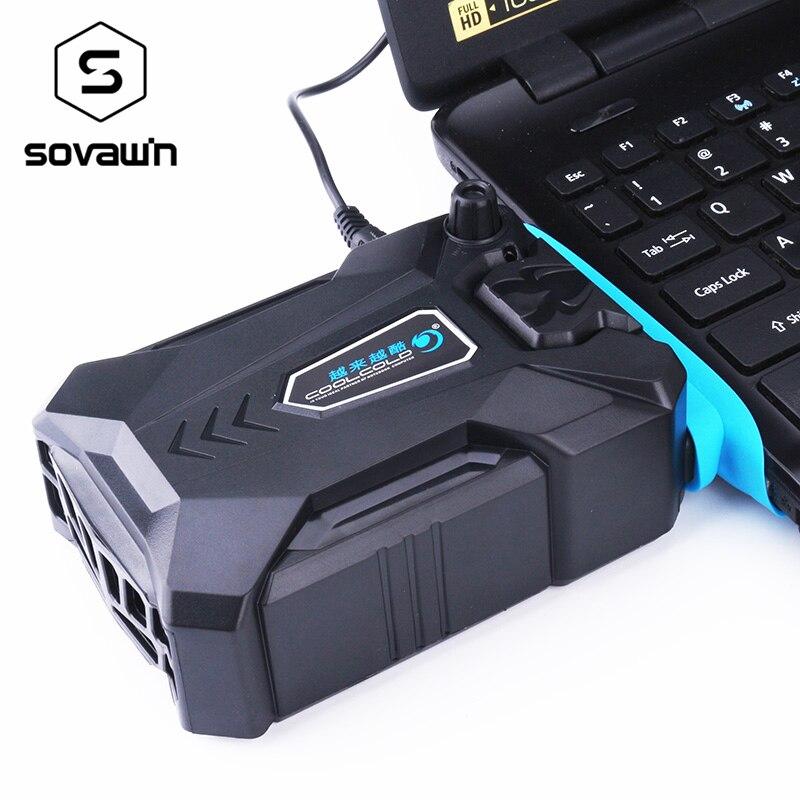Vakuum Tragbare Notebook Laptop Kühler USB Luft Externe Extrahieren Lüfter für Laptop Geschwindigkeit Einstellbar für 15 15,6 17 zoll