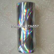 Голографическая фольга серебряного цвета B17 бесшовное Горячее тиснение на бумаге или пластике 16 см x 120 м Серебряный стример