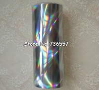 Holographic Foil Silver Color B17 Seamless Hot Stamping On Paper Or Plastic 16cm X 120m Silver