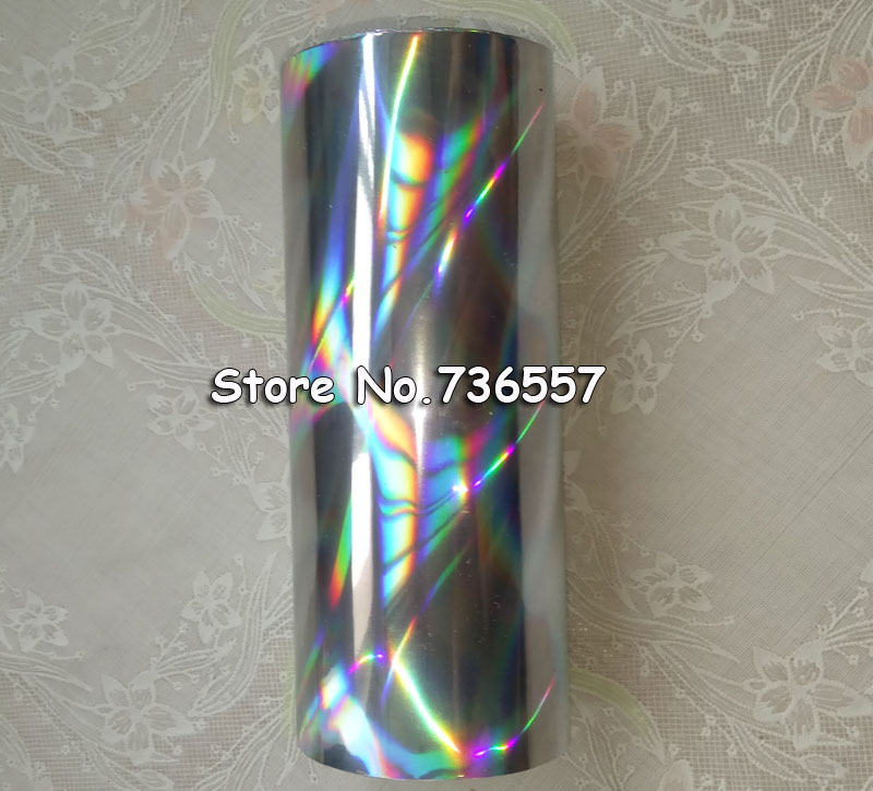 Holographic Foil Silver Color B17 Seamless Hot Stamping On Paper Or Plastic 16cm X 120m Silver Streamer