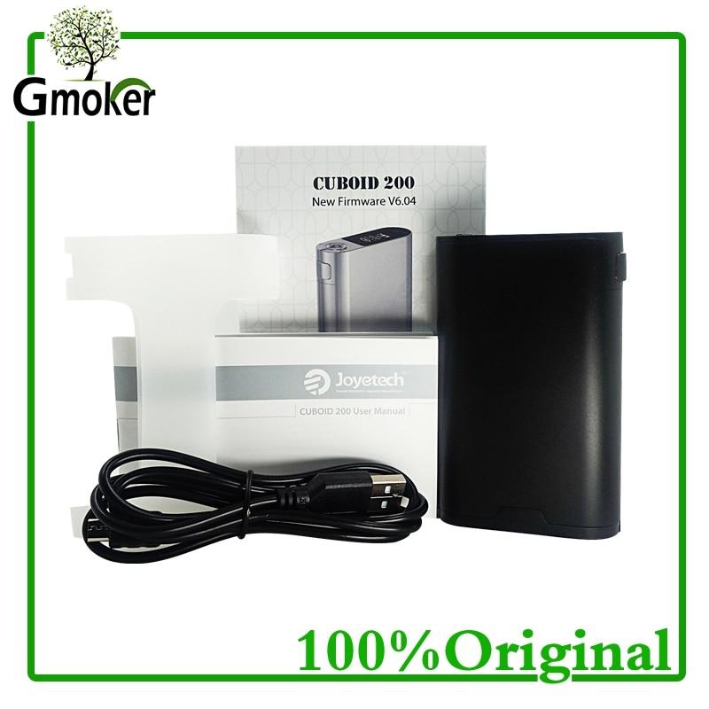 New Electronic Cigarette Original Joyetech Cuboid 200W TC 200W VW/VT Box Mod Vape Firmware Upgradeable Hookah Vaporizer