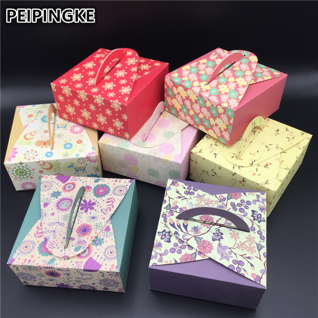 5pcs/lot 4 Grain 80g Mooncake Packaging Box Beautiful Paper Wedding Boxes For Cupcake Wedding Cake Boxes And Packaging