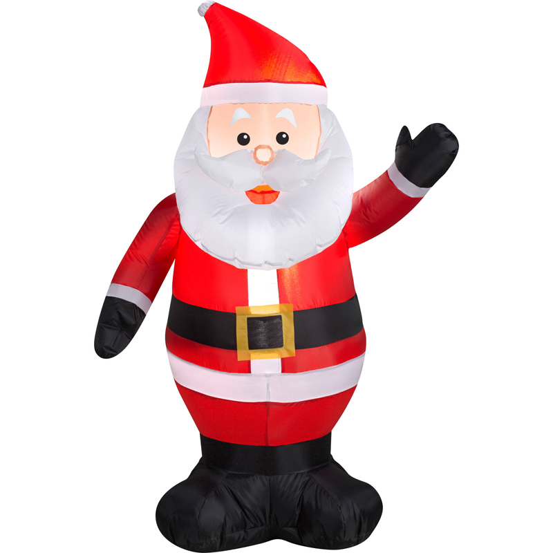 120cm 1.2M Giant Santa Claus Christmas Inflatable Toys Yard Decoration For Hotels Supper Market Entertainment Venues Holiday santa claus holiday printed pillow case