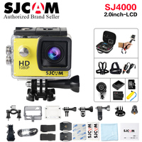 Original SJCAM SJ4000 Basic Mini Action Cam Waterproof Helmet Cam 1080P Full HD Mini Camcorder 12MP