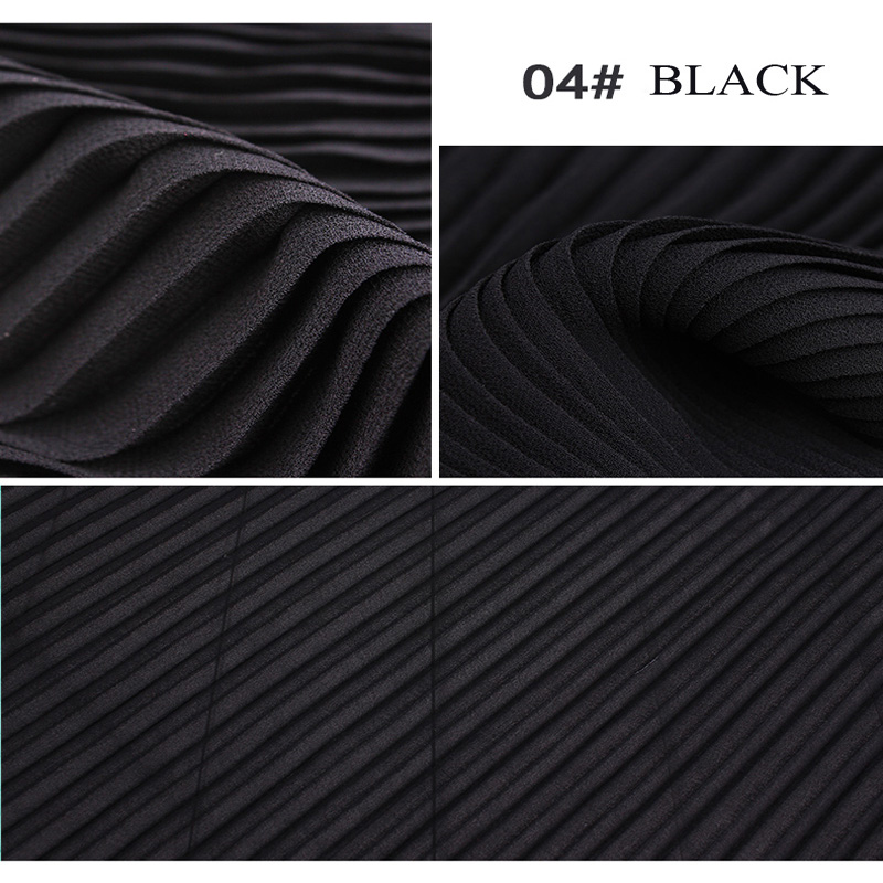 Polyester Pleated Pearl Chiffon Fabric for Dress Skirt Trousers