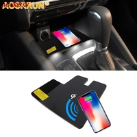 Special on board QI Phone wireless charging Pad Panel Car Accessories For Mazda 6 ATENZA station wagon 2016 2017 2018 styling