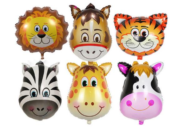 Party Theme Animal Ballons Jungle Party Zoo Helium Foil Air Balloon Kids Birthday Party Decorations Baloon