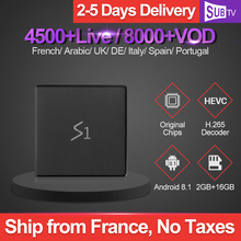 Leadcool S1 Tv Box Android 8.1 4K IPTV France Subscription RK3229 2GB 16GB SUBTV 1 Year IPTV UK Arabic French Italia Netherlands цена и фото