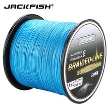 JACKFISH 8 Strand PE Braided Fishing Line 10-80LB 500M Multifilament For Carp Tackle Saltwater line