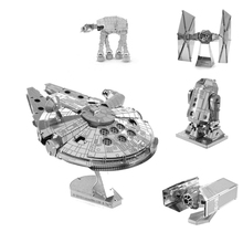 Робота-игрушки x-wing at-at истребитель тысячелетний здания сокол звездные детям войны металлические