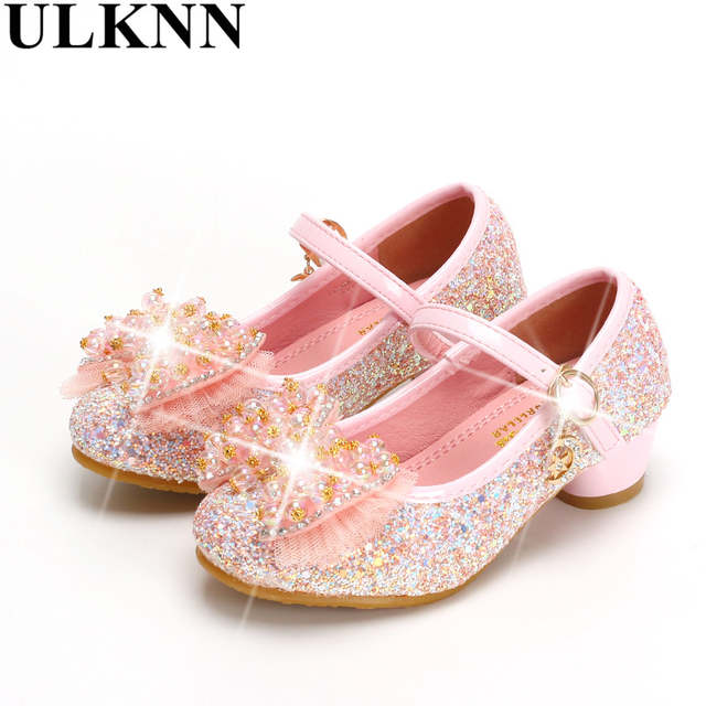 placeholder ULKNN Girls high heels Hot Sale Spring new children princess shoes  little girl shoes purple shoes 236a2a9c76b7