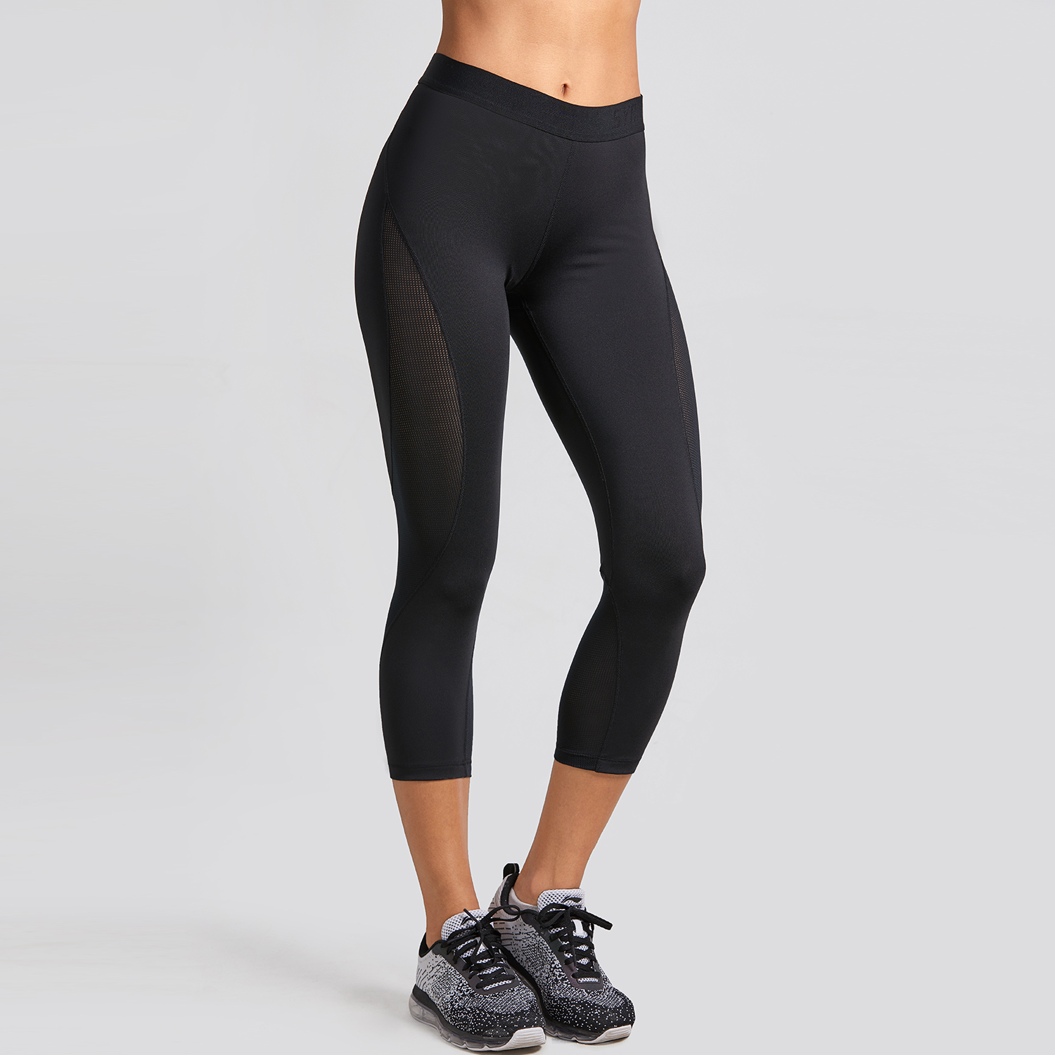 fbc9dc357eab2 Aliexpress.com : Buy CRZ YOGA Women's Slimming Mesh Sports Cropped Tights  Training Capri Leggings from Reliable Trainning & Exercise Pants suppliers  on CRZ ...