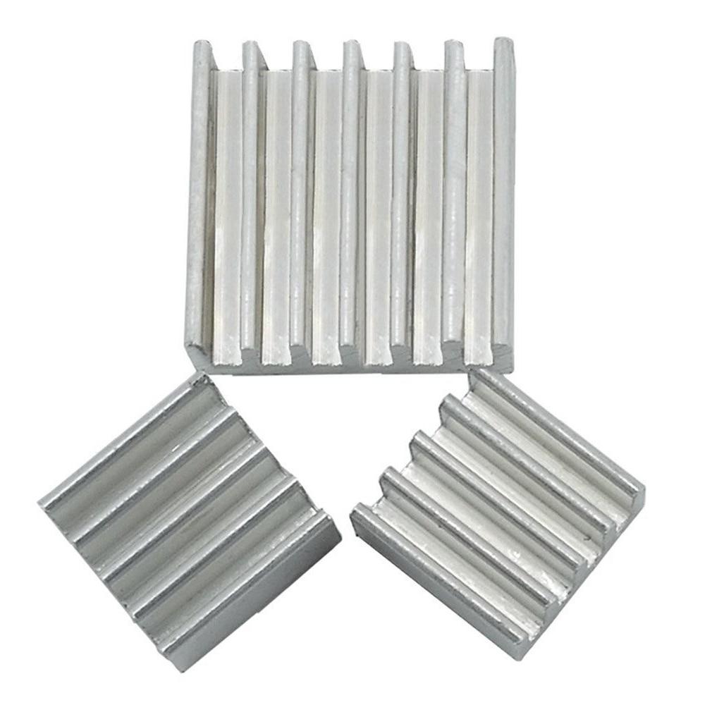 3pcs Aluminum Heatsink Set Kit For Adhesive Raspberry Pi 2 B 3 Heat Sink Radiator Cooler + 1 Pcs Thermal Grease интегральная микросхема oem 3 2 pi b 512m pi b 1 raspberry pi 2 set 3