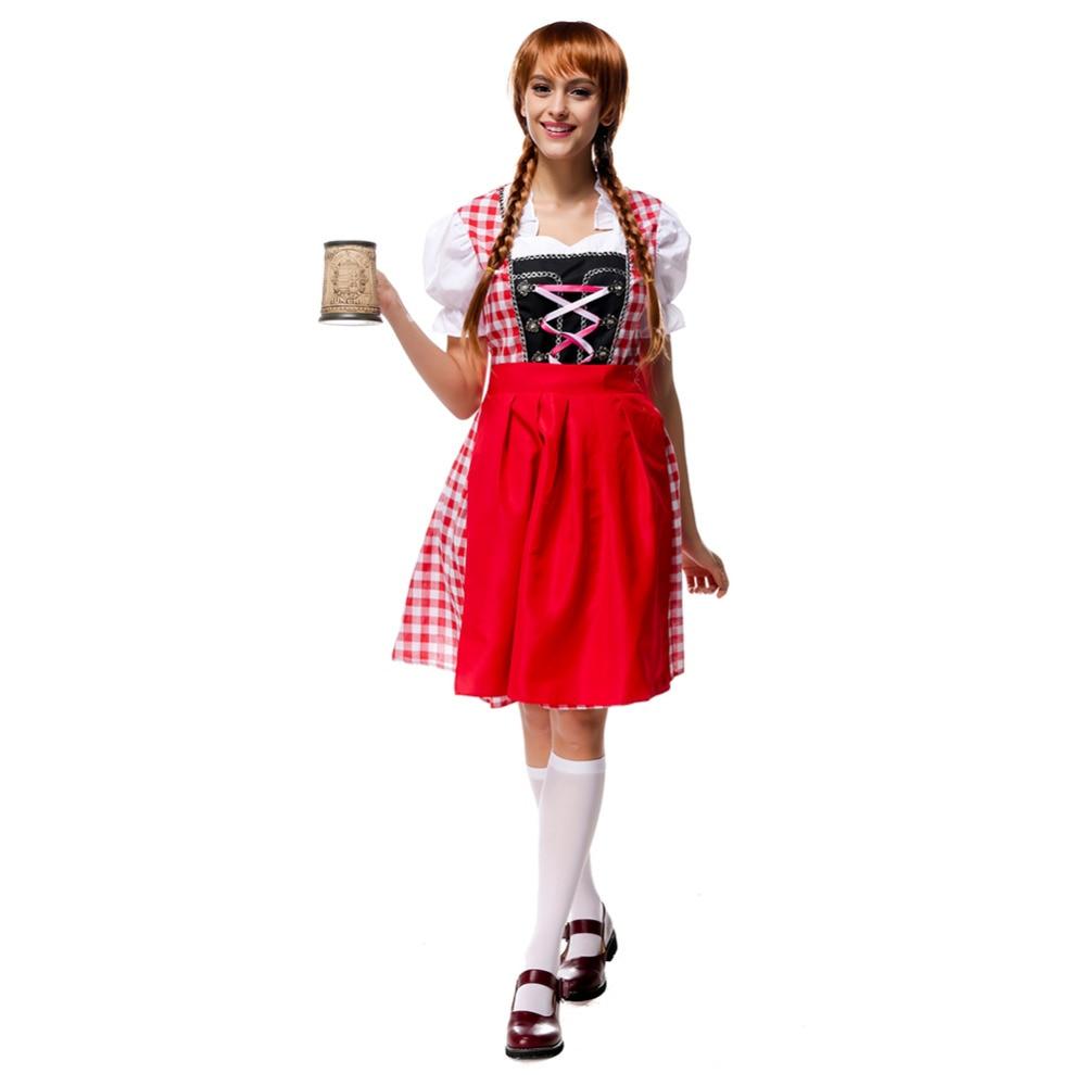 Fräulein Womens T-Shirt Costume Fraulein Octoberfest Oktoberfest Beer Adult