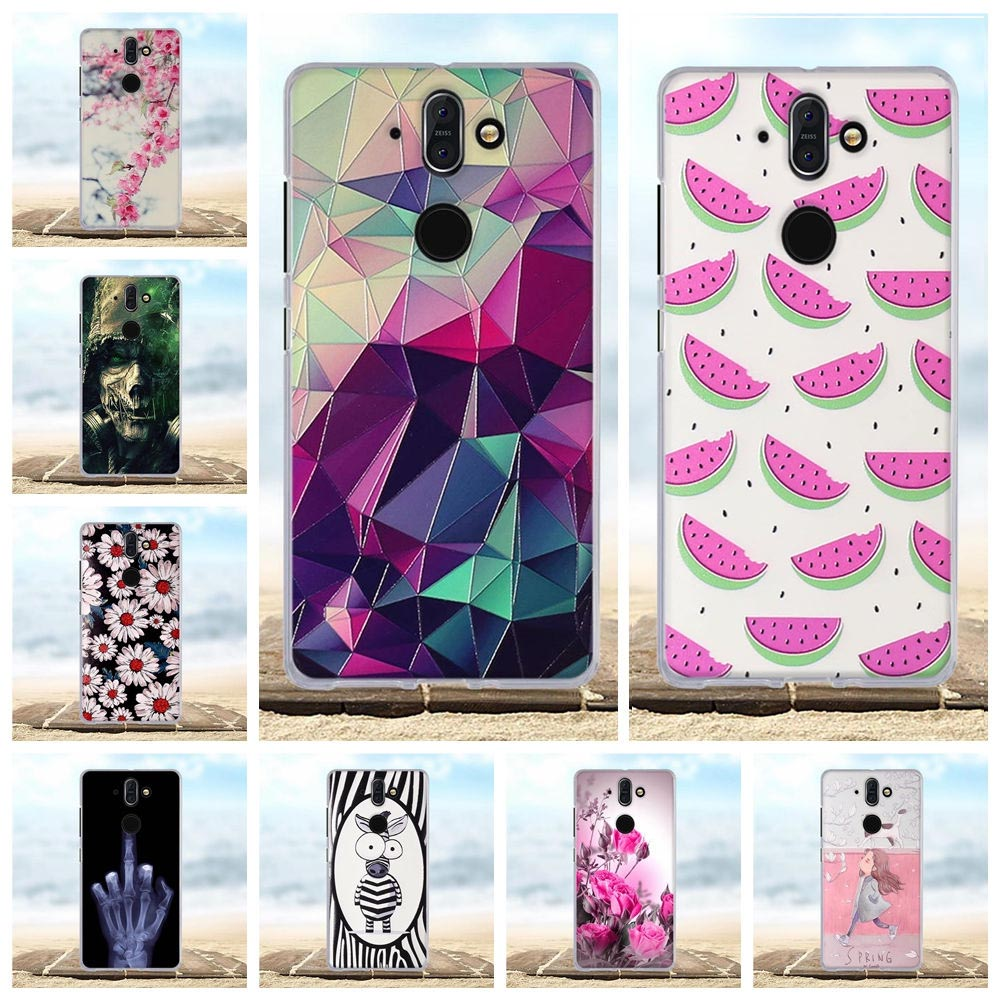 For Nokia 8 Sirocco Case Soft Silcione TPU Cover For Nokia 8 Sirocco Case 3D Pattern Flower Capa For Nokia 8 Sirocco Phone Cases