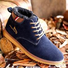 Hot 2016 Fashion Men Winter Snow Boots Keep Warm Boots Plush Ankle Boot Snow Work Shoes Men's Snow Cheap Boots