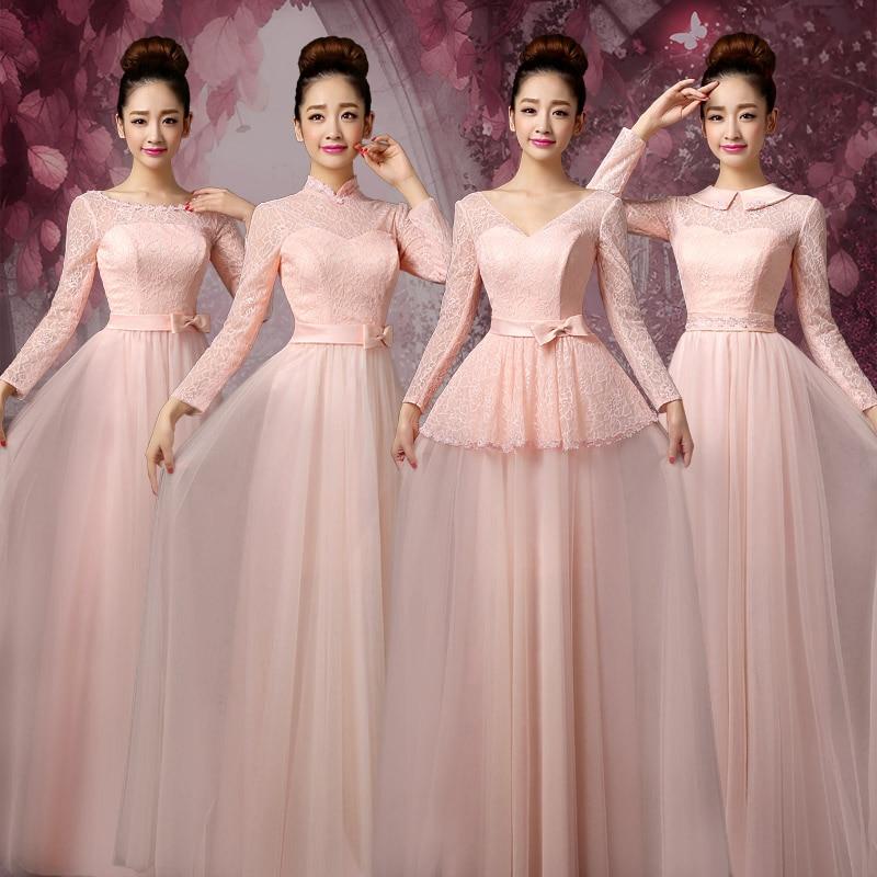Bonito Rosa Vestidos De Dama De Color Púrpura Colección - Ideas de ...