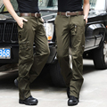 2016 Nuevos hombres Pantalones Cargo Pantalones de Algodón Para Hombres de Camuflaje Militar Táctico de Bolsillo de La Manera Pantalones Ocasionales de Los Hombres