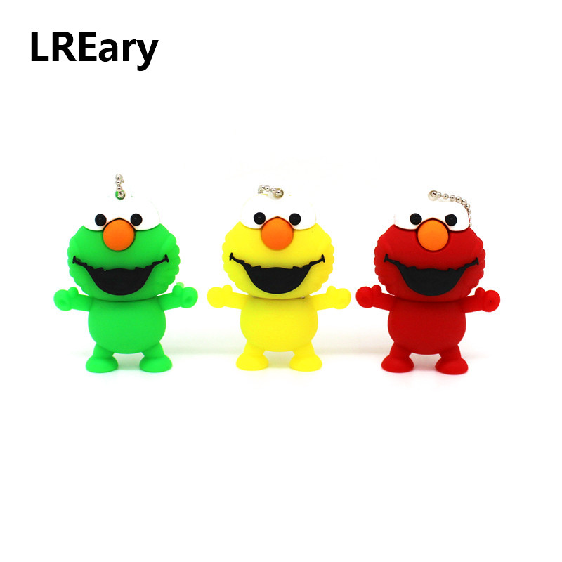 Mini Elmo Small USB Flash Drive Cartoon Frog Memory Stick 4GB 8GB 16GB 32GB USB Pen Drive Thumb Pendrive Sesame Street