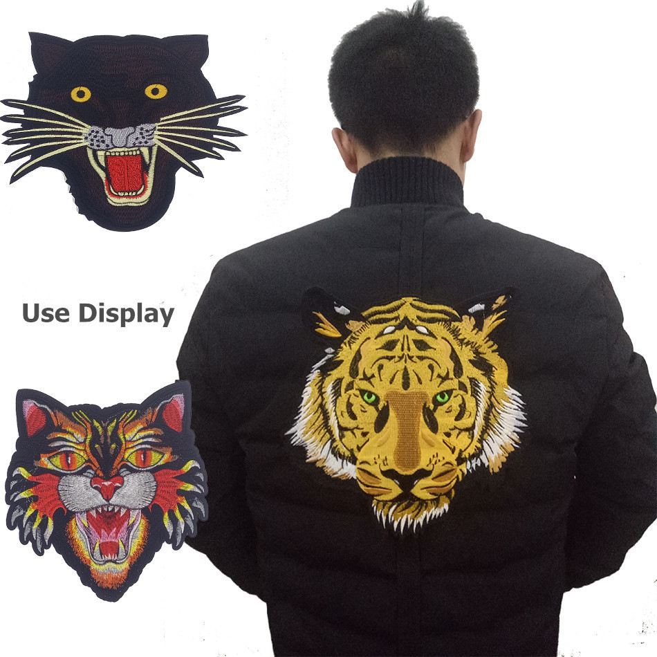 Sales Of New Embroidery Large And Medium-sized GU Tiger Head Cloth Paste DIY Decorative Clothing Patch Garment Accessories